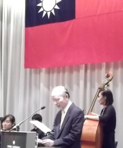 Dr. Wu-lien Wei, Repräsentant Taiwans in Deutschland hält eine Ansprache