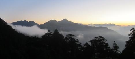 Blick von der Tianchi Hütte